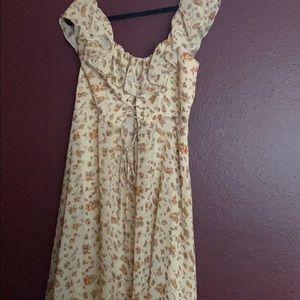 Off shoulder maxi dress.